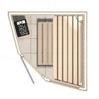 SMART sauna ontwerp vijfhoeksauna